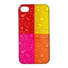 Color Abstract Drops Apple Iphone 4/4s Hardshell Case With Stand