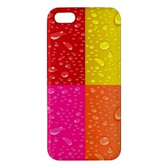 Color Abstract Drops Apple Iphone 5 Premium Hardshell Case by BangZart