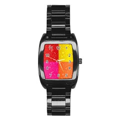 Color Abstract Drops Stainless Steel Barrel Watch by BangZart