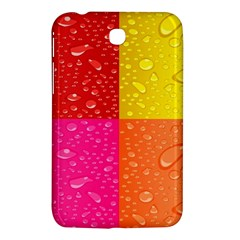 Color Abstract Drops Samsung Galaxy Tab 3 (7 ) P3200 Hardshell Case  by BangZart