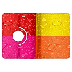 Color Abstract Drops Kindle Fire Hdx Flip 360 Case by BangZart