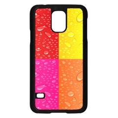 Color Abstract Drops Samsung Galaxy S5 Case (black) by BangZart