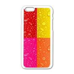 Color Abstract Drops Apple Iphone 6/6s White Enamel Case by BangZart