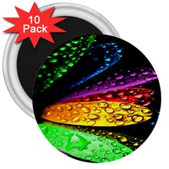 Abstract Flower 3  Magnets (10 Pack)