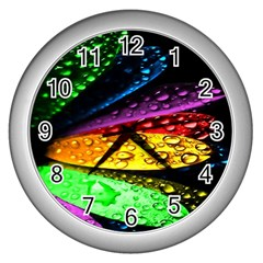 Abstract Flower Wall Clocks (silver)  by BangZart