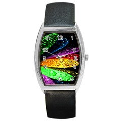 Abstract Flower Barrel Style Metal Watch by BangZart