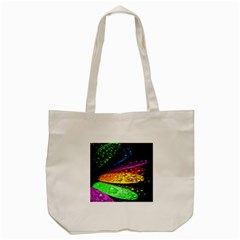 Abstract Flower Tote Bag (cream) by BangZart