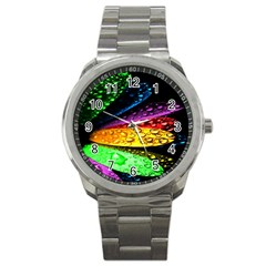 Abstract Flower Sport Metal Watch by BangZart