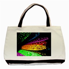 Abstract Flower Basic Tote Bag by BangZart