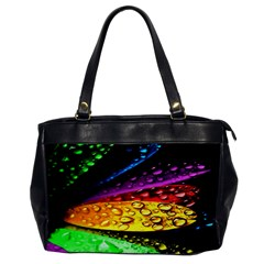 Abstract Flower Office Handbags