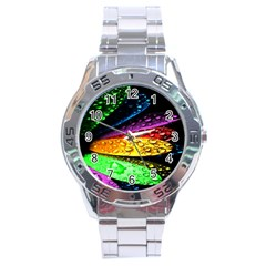 Abstract Flower Stainless Steel Analogue Watch
