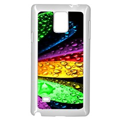 Abstract Flower Samsung Galaxy Note 4 Case (white)