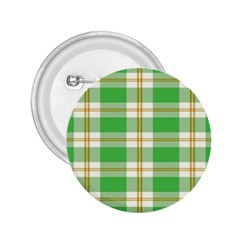 Abstract Green Plaid 2 25  Buttons by BangZart