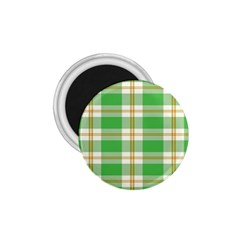 Abstract Green Plaid 1 75  Magnets by BangZart