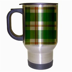 Abstract Green Plaid Travel Mug (silver Gray) by BangZart