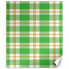 Abstract Green Plaid Canvas 20  X 24   by BangZart