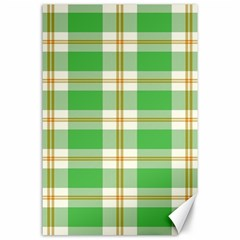 Abstract Green Plaid Canvas 24  X 36  by BangZart