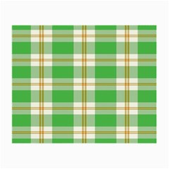 Abstract Green Plaid Small Glasses Cloth (2 Side)