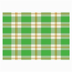 Abstract Green Plaid Large Glasses Cloth (2 Side)