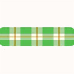 Abstract Green Plaid Large Bar Mats by BangZart