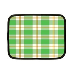 Abstract Green Plaid Netbook Case (small)  by BangZart