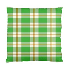 Abstract Green Plaid Standard Cushion Case (one Side) by BangZart