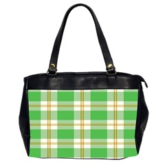 Abstract Green Plaid Office Handbags (2 Sides)