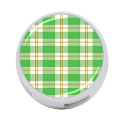 Abstract Green Plaid 4 Port Usb Hub (one Side) by BangZart