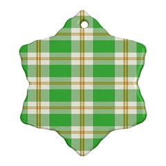 Abstract Green Plaid Ornament (snowflake) by BangZart