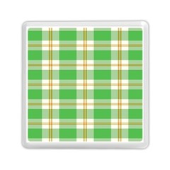 Abstract Green Plaid Memory Card Reader (square)  by BangZart