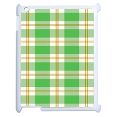 Abstract Green Plaid Apple Ipad 2 Case (white) by BangZart