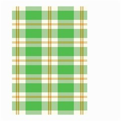Abstract Green Plaid Small Garden Flag (two Sides)