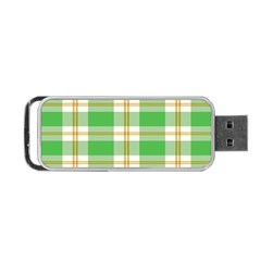 Abstract Green Plaid Portable Usb Flash (two Sides) by BangZart