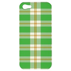 Abstract Green Plaid Apple Iphone 5 Hardshell Case by BangZart