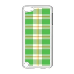 Abstract Green Plaid Apple Ipod Touch 5 Case (white) by BangZart