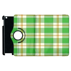 Abstract Green Plaid Apple Ipad 3/4 Flip 360 Case