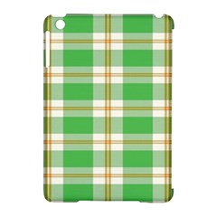 Abstract Green Plaid Apple Ipad Mini Hardshell Case (compatible With Smart Cover)