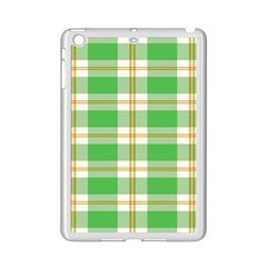 Abstract Green Plaid Ipad Mini 2 Enamel Coated Cases by BangZart