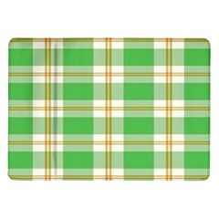 Abstract Green Plaid Samsung Galaxy Tab 10 1  P7500 Flip Case