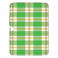Abstract Green Plaid Samsung Galaxy Tab 3 (10 1 ) P5200 Hardshell Case  by BangZart
