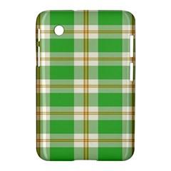 Abstract Green Plaid Samsung Galaxy Tab 2 (7 ) P3100 Hardshell Case