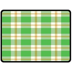 Abstract Green Plaid Double Sided Fleece Blanket (large)  by BangZart