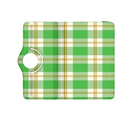 Abstract Green Plaid Kindle Fire Hdx 8 9  Flip 360 Case by BangZart