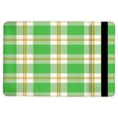 Abstract Green Plaid Ipad Air Flip
