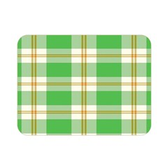 Abstract Green Plaid Double Sided Flano Blanket (mini)  by BangZart
