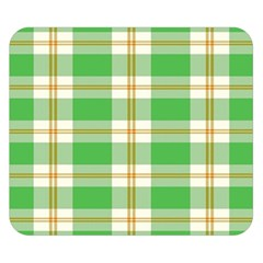 Abstract Green Plaid Double Sided Flano Blanket (small)  by BangZart