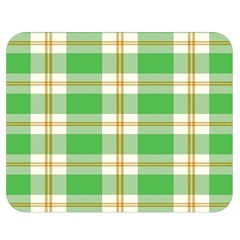 Abstract Green Plaid Double Sided Flano Blanket (medium)  by BangZart