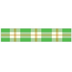 Abstract Green Plaid Flano Scarf (large)