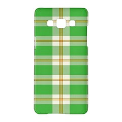 Abstract Green Plaid Samsung Galaxy A5 Hardshell Case
