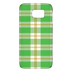 Abstract Green Plaid Galaxy S6